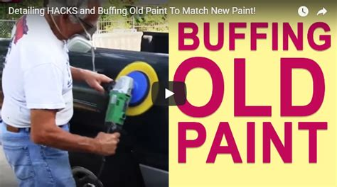 hack and paint detailing hacks and buffing paint to match new paint