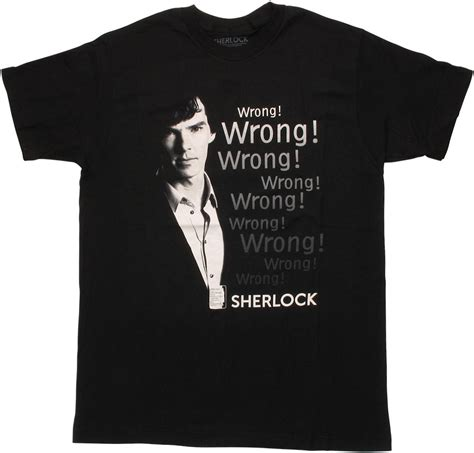T Shirt Sherlock Anime sherlock wrong wrong wrong t shirt
