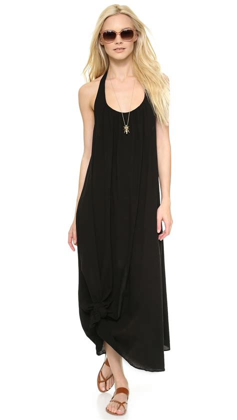 9seed Antigua Cover Up Dress In Black Lyst
