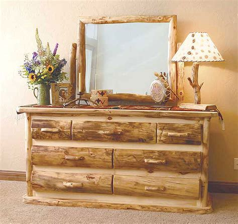 Rustic Bedroom Dresser Rustic Log Bedroom Furniture Log Furniture Bed Reclaimed Wood Log Beds