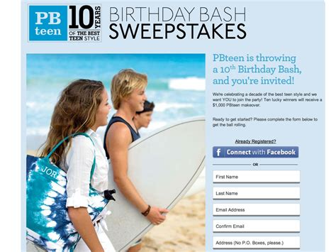 Pottery Barn Teen Gift Card - pottery barn teen 10th birthday bash sweepstakes