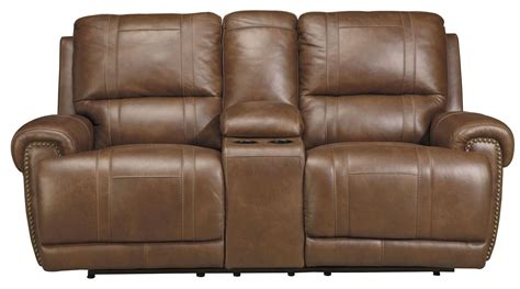 dual reclining sofa with console paron vintage double power reclining loveseat with console