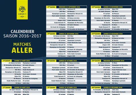 Calendrier Ligue 1 2016 Sco Ligue 1 2016 2017 T 233 L 233 Charger Et Imprimer Le Calendrier