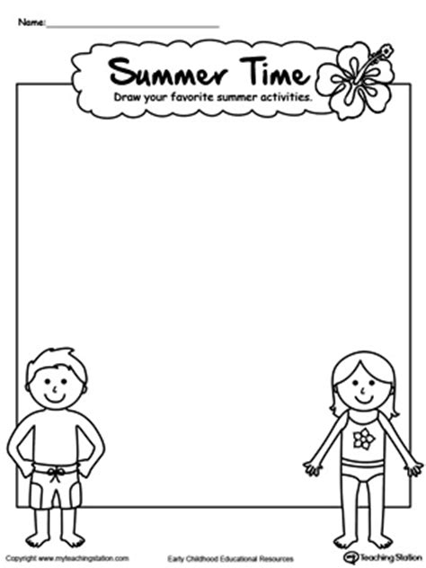 printable preschool summer activities drawing summer activities printable worksheet fun summer