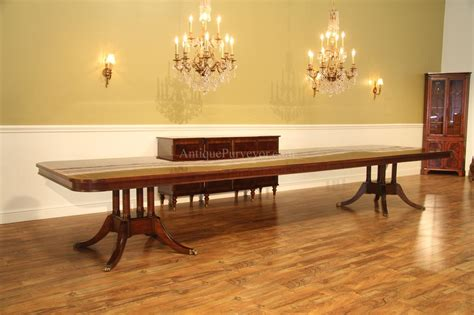 long large double pedestal mahogany dining table