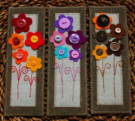bookmark craft ideas for felt bookmarks with flowers bookmark
