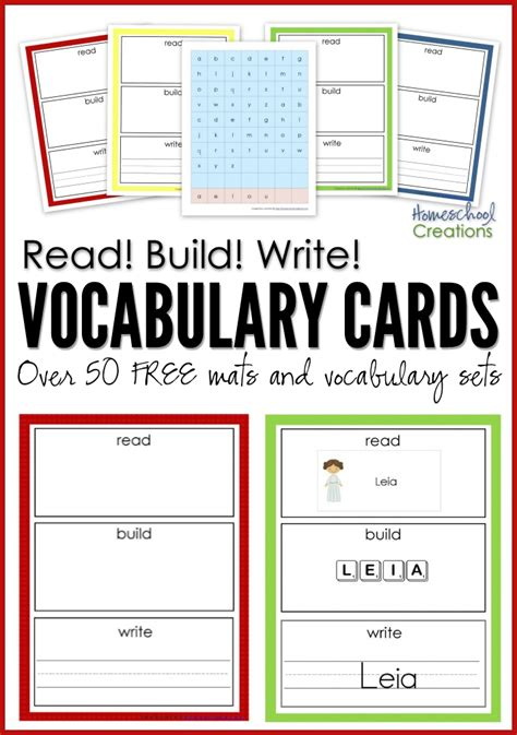 writing template for cards kindergarten read build write printables homeschool 50th and