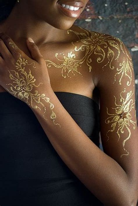 tattoo ink gold color 81 mesmerizing glossy metallic ink tattoo designs