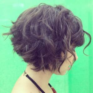 stacked bob curly short curly stacked bob with bangs great look for any