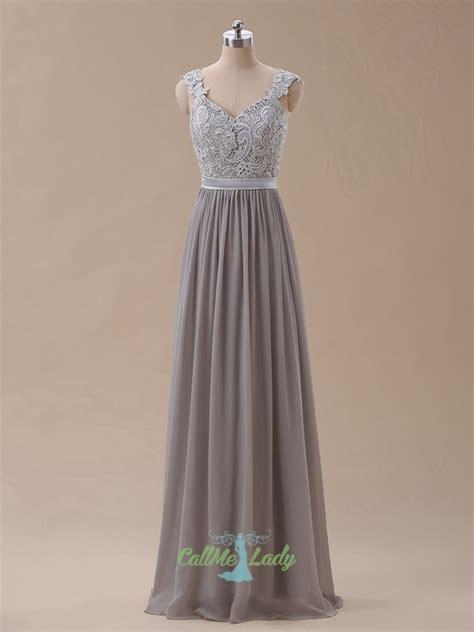 swing lange abendkleider graue lange abendkleid brautjungfer kleid mit spitzen