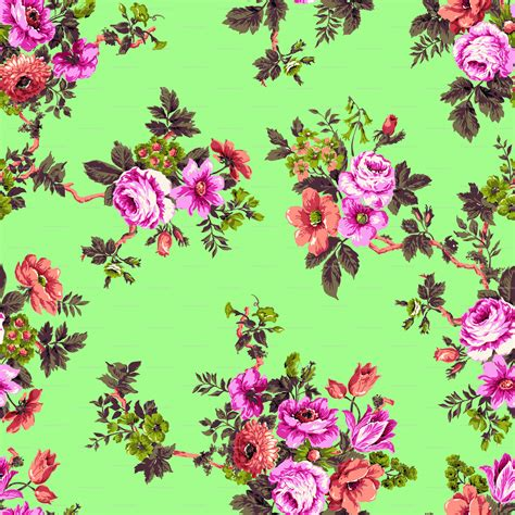 Flower Print pin floral print background on