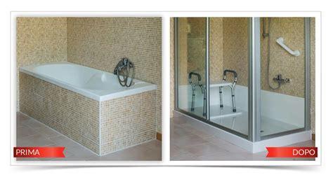 costo trasformazione vasca in doccia foto trasformazione di una vasca in doccia di tecnobad