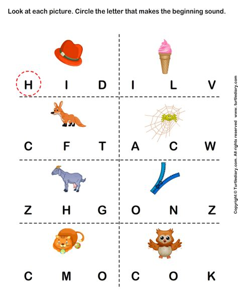 0008185778 special sounds level kg phonics worksheets identify the beginning sound of words
