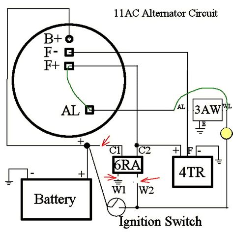 lucas 11ac alternator guides