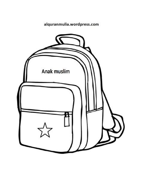 Tas Anak Muslim Hafidz Qur An mewarnai gambar benda tas anak muslim alqur anmulia