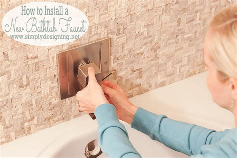 how to install bathtub spout master bathroom remodel part 10 how to install a