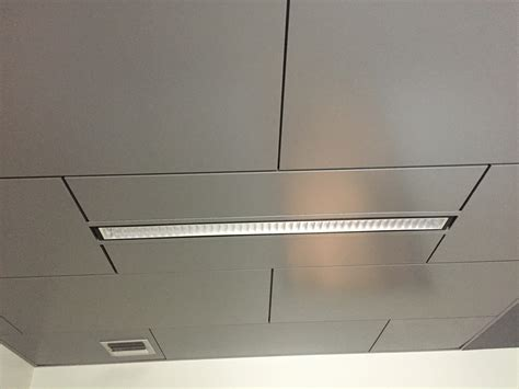Metal Ceiling Installation by Portfolio Commercial Built Construction