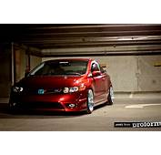 Red Honda Civic Si Coupe FG2 On 17″ Blue BBS RS  Zone