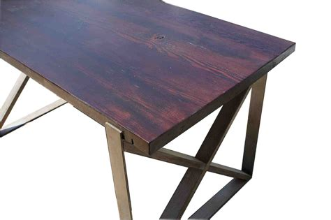 Chicago Industrial Dining Table In Reclaimed Wood Dining Table Chicago