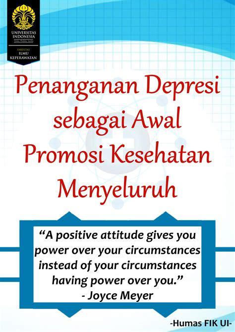 Promosi Kesehatan Global By Sukidjo Notoatmojo penangan depresi sebagai awal promosi kesehatan menyeluruh uiupdate