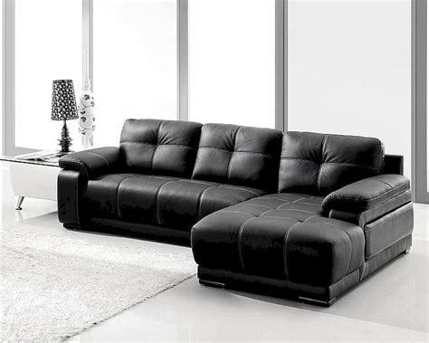 Sofa Bonded Leather Black Bonded Leather Sectional Sofa Set 44l2972s