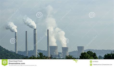Stelan Pkumy nuclear plant with steam plumes stock photo image 44166501
