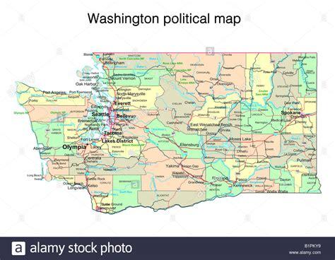 washington dc political map washington state political map stock photo royalty free