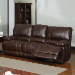 global furniture usa leather recliner sofa in brown