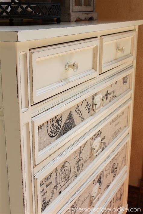 Fabric Dresser Drawers by Fabric Inlaid Dresser Confessions Of A Serial Do It