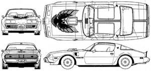 car blueprints pontiac firebird trans am 66 blueprints