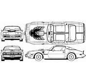 CAR Blueprints  Pontiac Firebird Trans Am 66