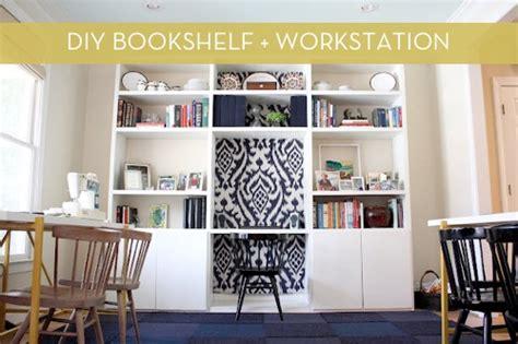 Diy Bookshelf Desk Diy Bookshelf With Built In Desk 187 Curbly Diy Design Decor