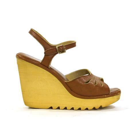 platform wedges vintage 1970s high heel sandals