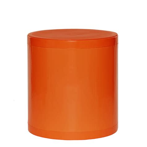 otto storage stool solid orange