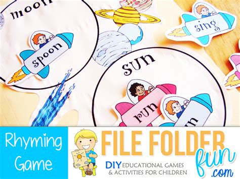 rhyming board game free printable no time for flash cards phonics language printables file folder fun