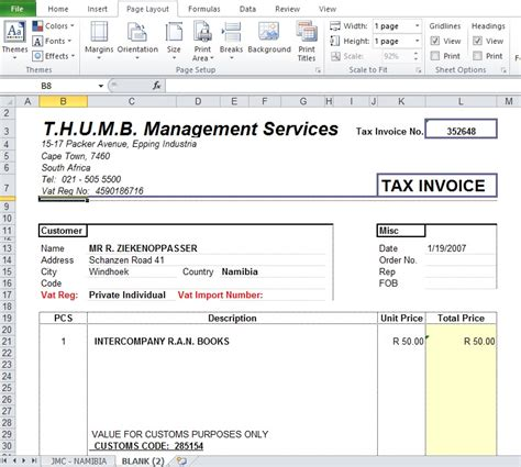 blank tax invoice template blank tax invoice template free excel tmp