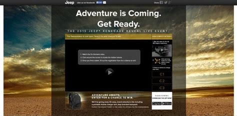 Reveal Sweepstakes - jeeprenegadereveal com jeep renegade reveal sweepstakes