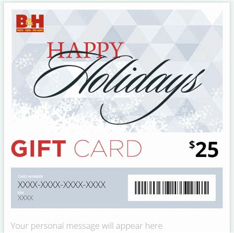 B H Gift Cards - the b h electronic gift card news sys con com