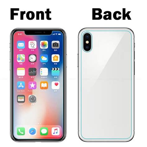 Tempered Glass For Iphone Iphone 44s56 Front Back for iphone x 3d front back curved titanium tempered glass
