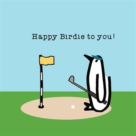 funny happy birthday golf happy birdie penguin birthday golf