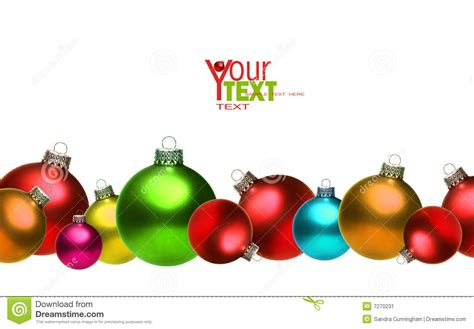 colored christmas glass balls isolated on white stock