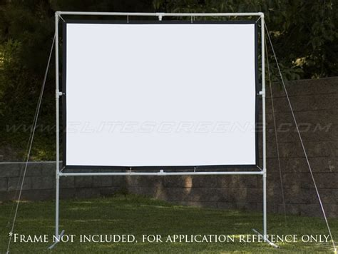 diy backyard projector screen diy pro screen series outdoor projector screens elite