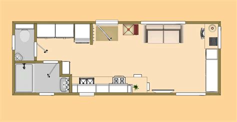 small homes floor plans the tiny 4 2 280 sq ft small house floor plan cozy