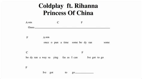 coldplay rihanna lyrics coldplay princess of china ft rihanna guitar chords