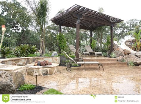 Backyard Luxuries Luxury Backyard Royalty Free Stock Photos Image 5389668