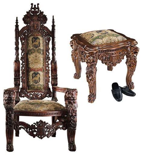 Kitchen Dollhouse Furniture 86lbs European Lord Raffles Gothic Gold Throne And