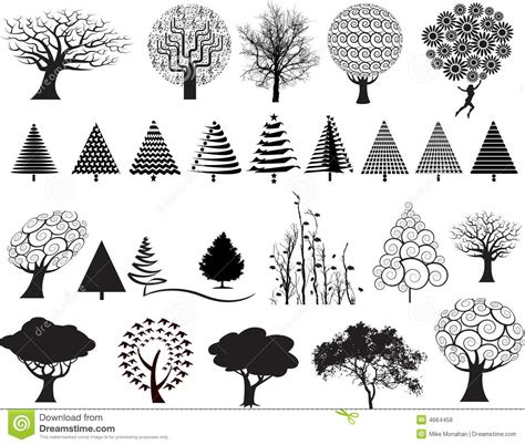 for free tree illustrations stock vector image of different