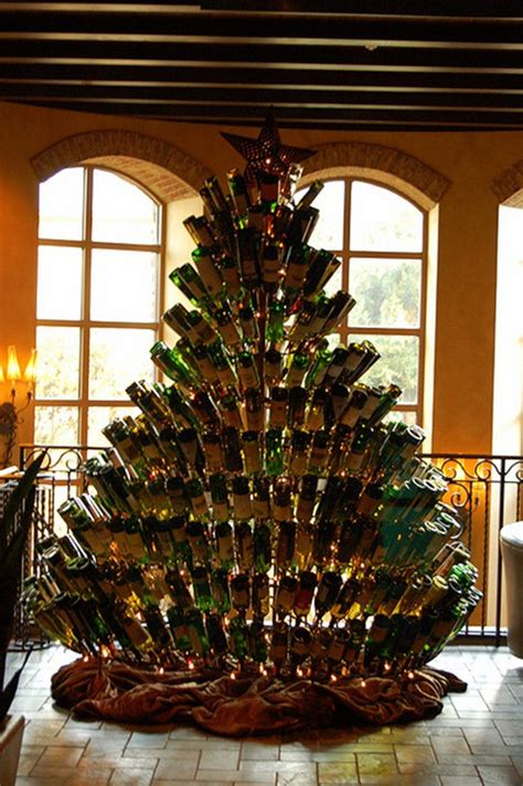 wine bottle christmas tree 171 the yule log 365