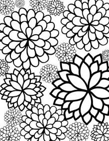 free printable bursting blossoms flower coloring