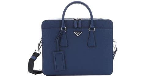 Pink Prada Notebook Computer by Lyst Prada Blue Saffiano Leather Top Handle